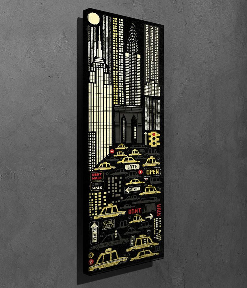 Tablou decorativ pe panza Symphony, 762SYM4266, 30 x 80 cm, panza