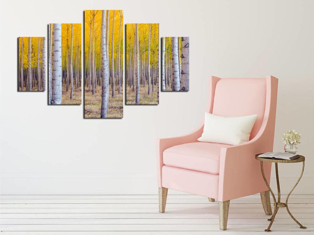 Tablou decorativ multicanvas Destiny, 247DST2930, 5 Piese, Natura, MDF