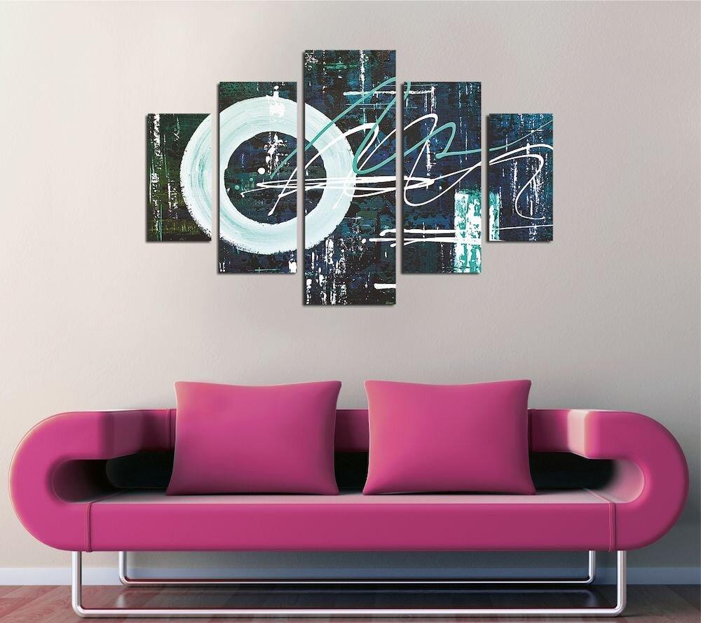 Tablou decorativ multicanvas Destiny, 247DST2965, 5 Piese, MDF