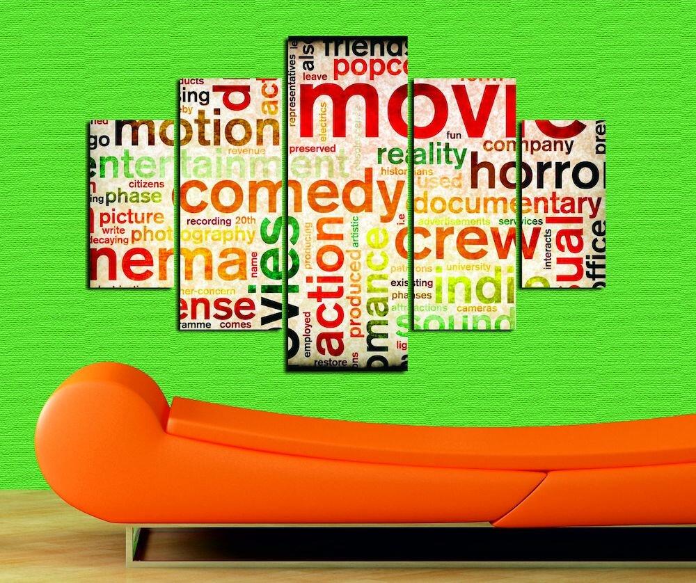 Tablou decorativ multicanvas Miracle, 236MIR1993, 5 Piese, MDF