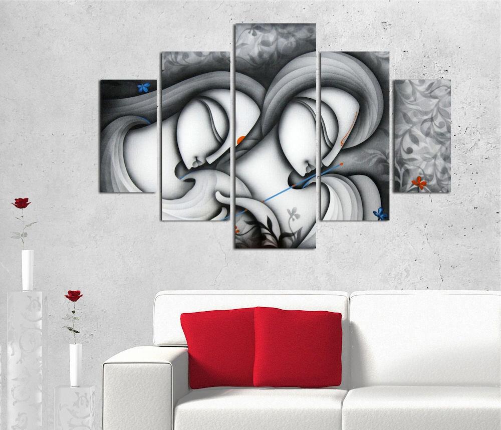 Tablou decorativ multicanvas Miracle, 236MIR2919, 5 Piese, Gotic, MDF