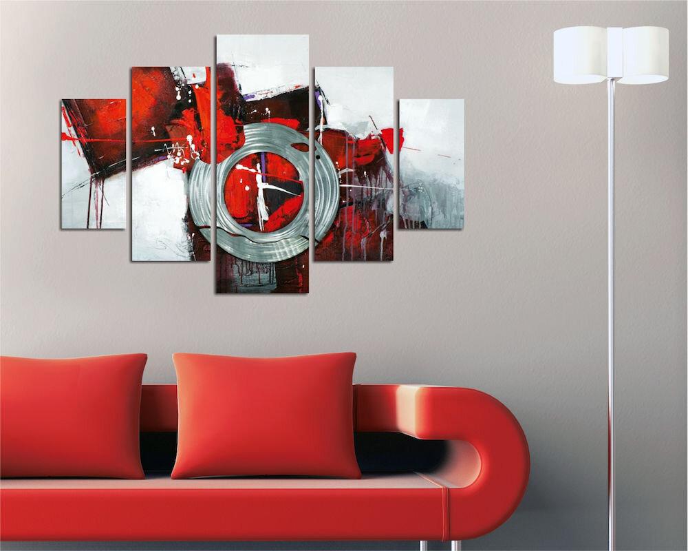 Tablou decorativ multicanvas Miracle, 236MIR2922, 5 Piese, Retro, MDF