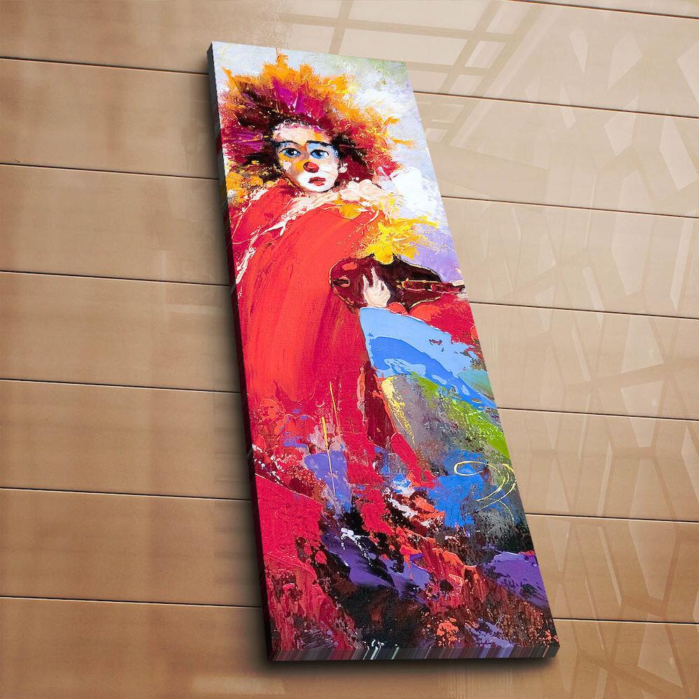 Tablou decorativ pe panza Horizon, 237HRZ1258, 30 x 90 cm, panza