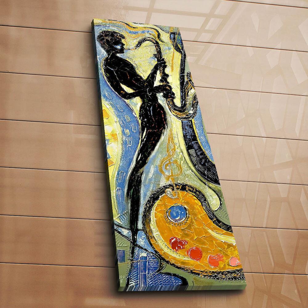 Tablou decorativ pe panza Horizon, 237HRZ1271, 30 x 90 cm, panza