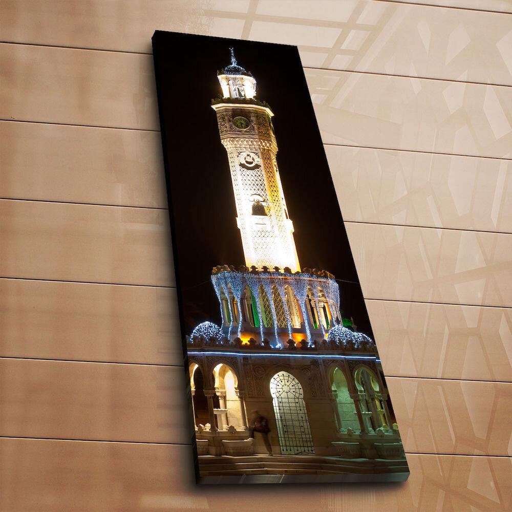 Tablou decorativ pe panza Horizon, 237HRZ1282, 30 x 90 cm, panza