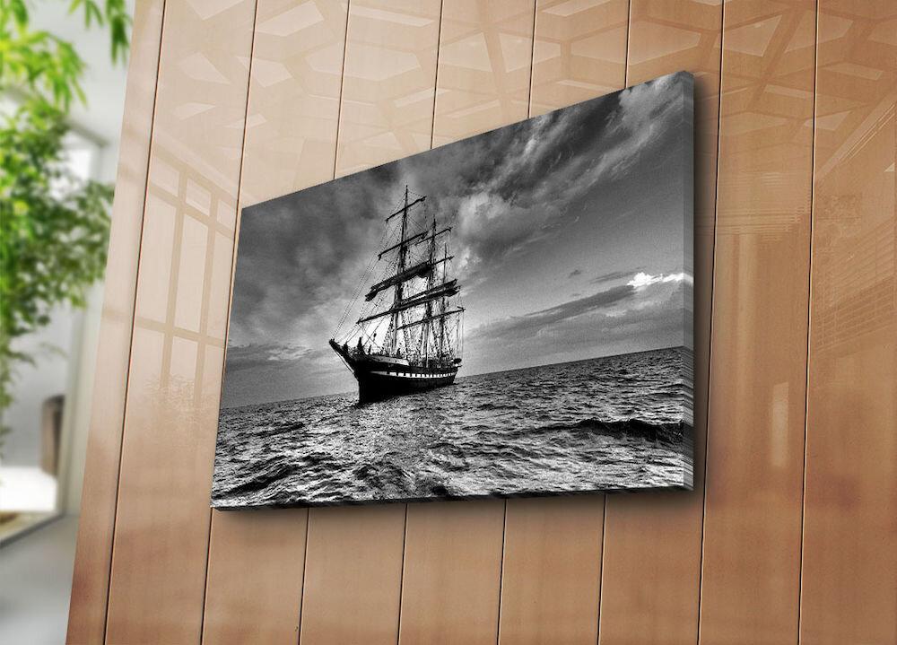 Tablou decorativ pe panza Horizon, 237HRZ3266, 45 x 70 cm, panza