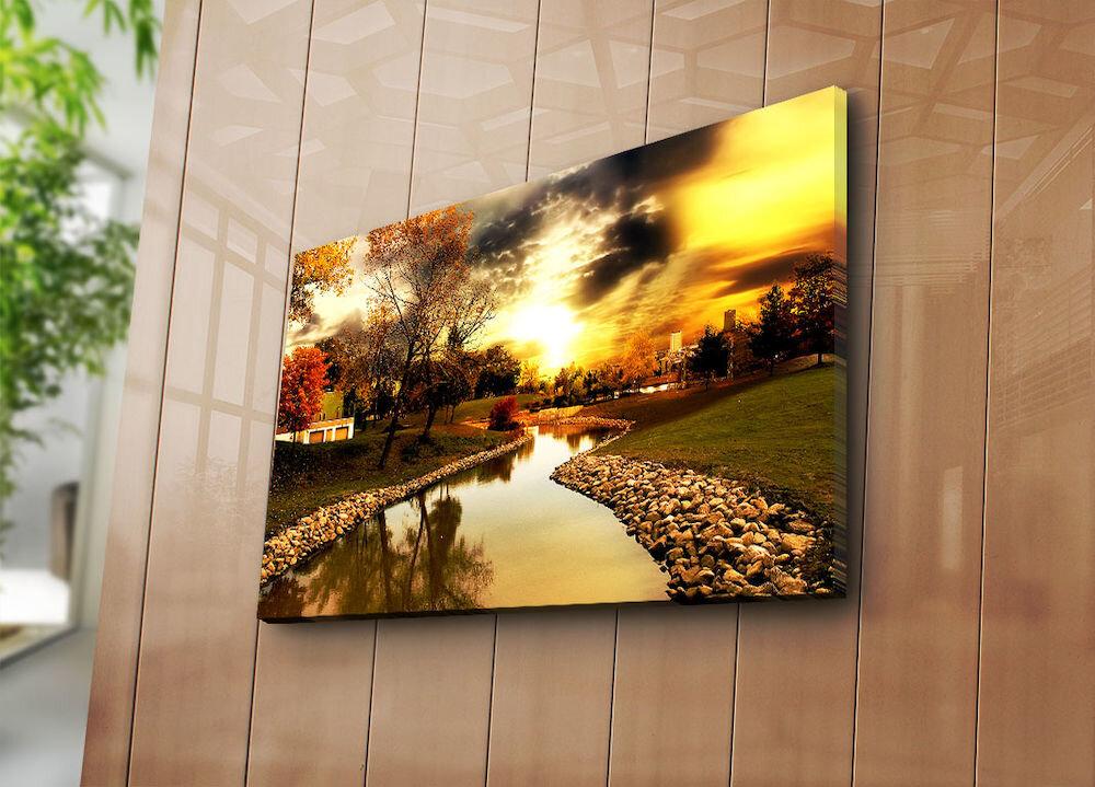 Tablou decorativ pe panza Horizon, 237HRZ3271, 45 x 70 cm, panza