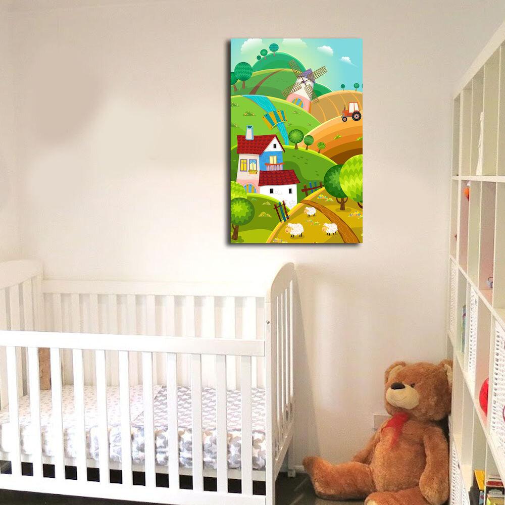 Tablou decorativ pe panza Taffy, 241TFY1221, 45 x 70 cm, panza