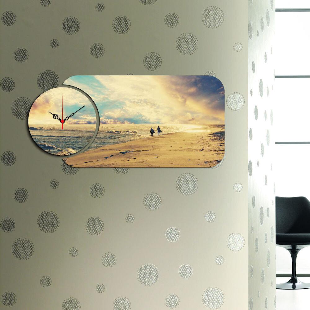 Ceas decorativ Home Art, 238HMA5148, 2 Piese, MDF