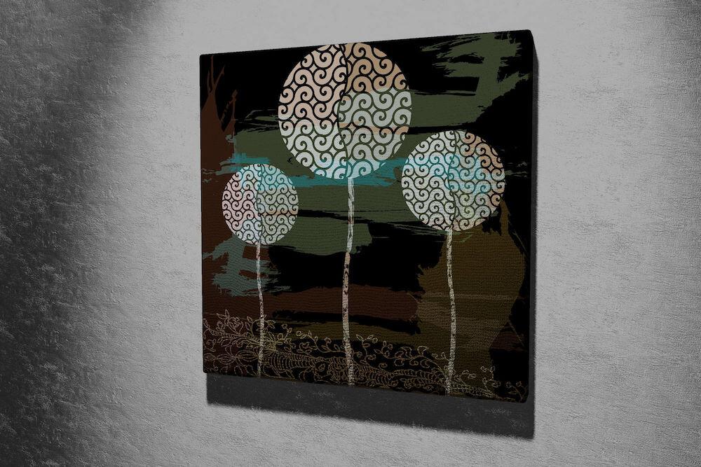 Tablou decorativ pe panza Majestic, 257MJS1255, 45 x 45 cm, panza