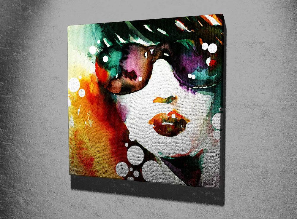 Tablou decorativ pe panza Majestic, 257MJS3250, 45 x 45 cm, panza