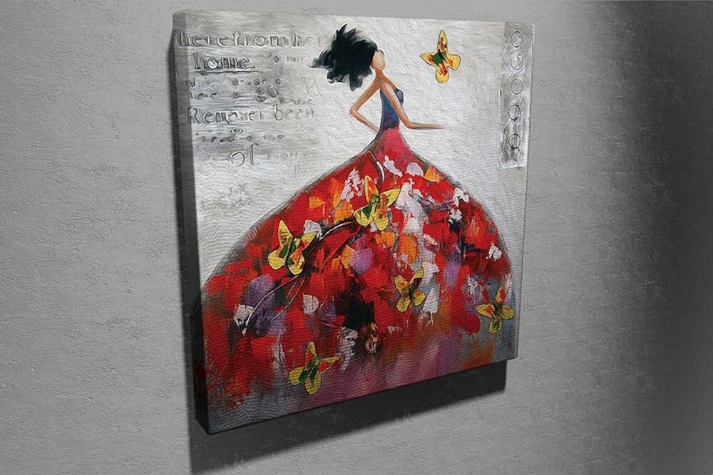Tablou decorativ pe panza Symphony, 762SYM4249, 45 x 45 cm, panza