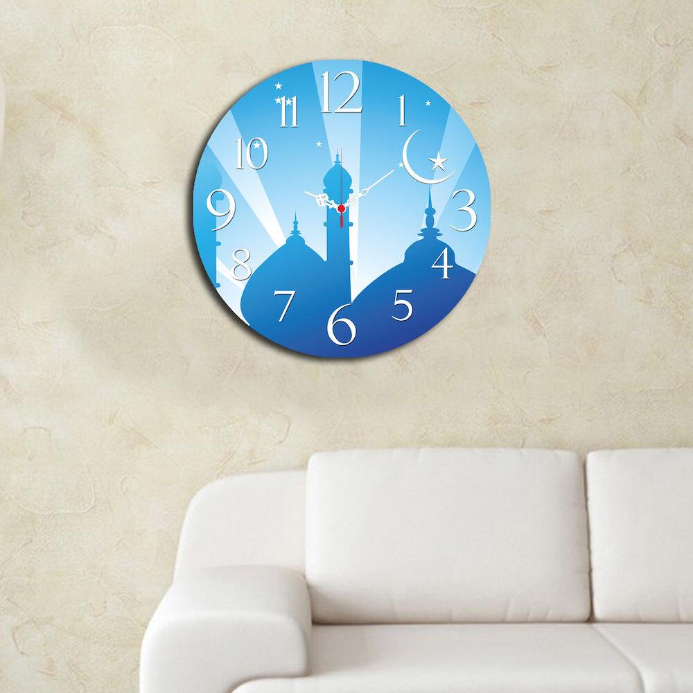 Ceas decorativ de perete din lemn Home Art, 238HMA3106, 40 cm, MDF
