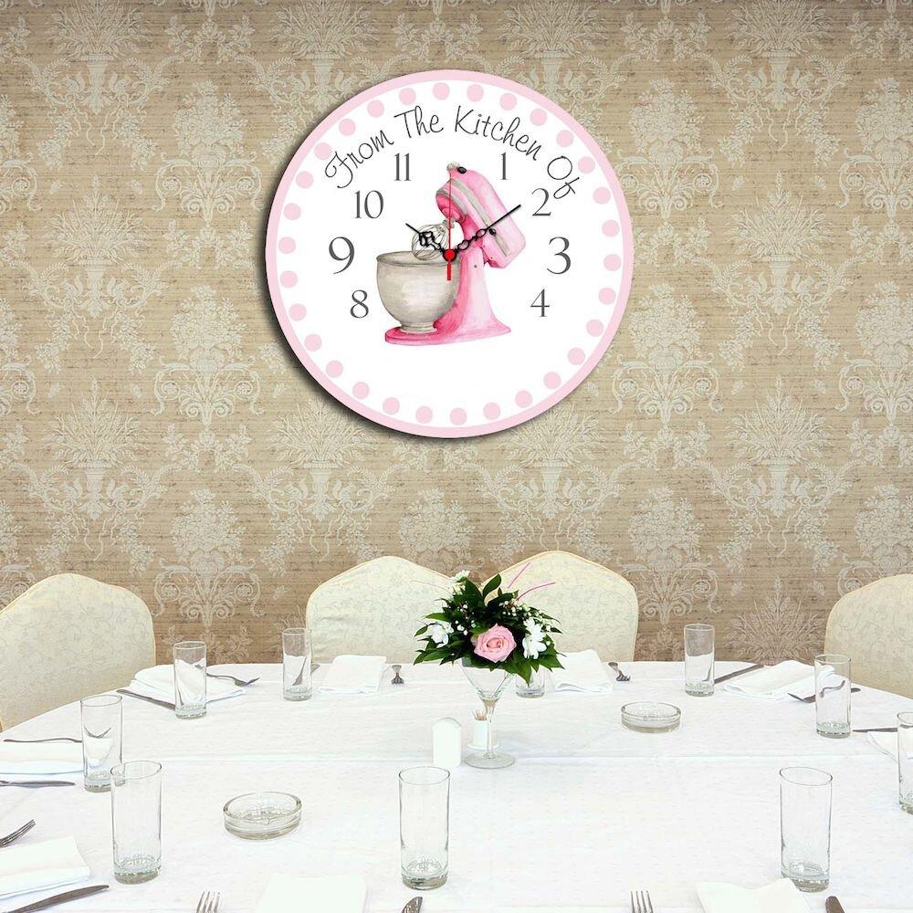 Ceas decorativ de perete din lemn Home Art, 238HMA3116, 40 cm, MDF