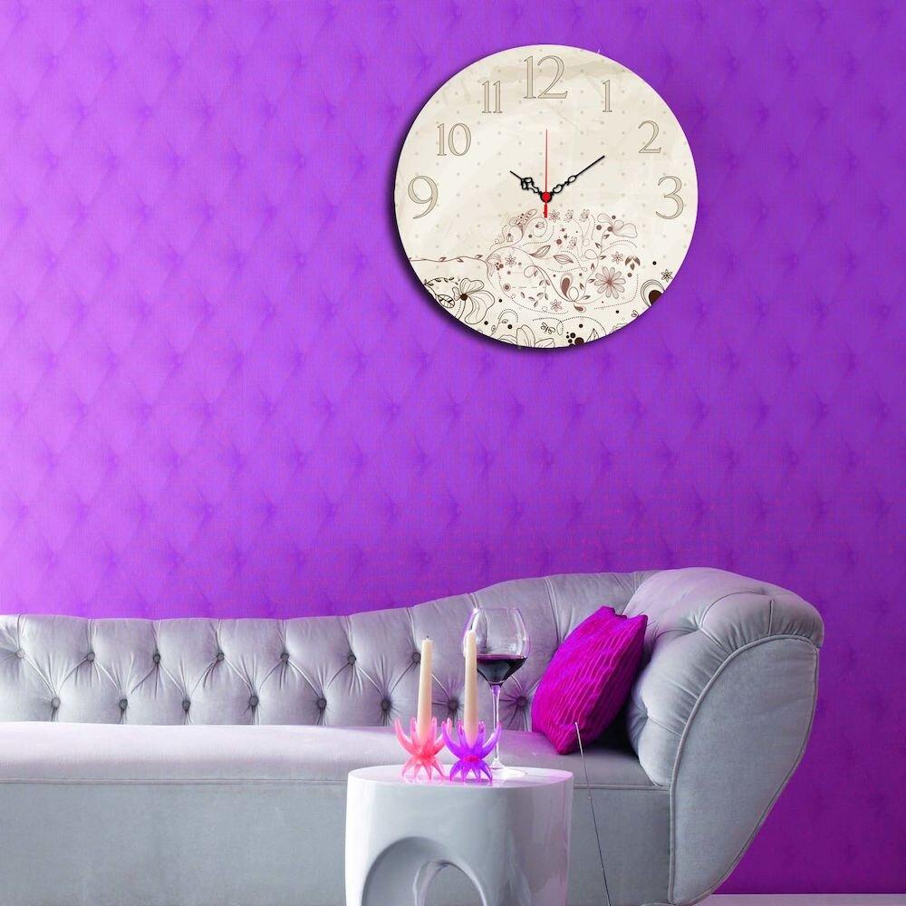Ceas decorativ Home Art, 238HMA3125, 40 cm, MDF