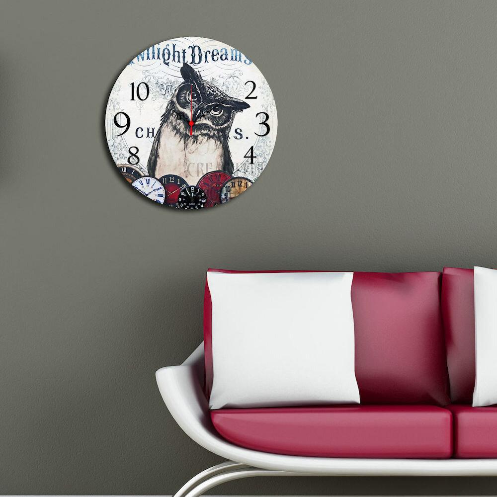 Ceas decorativ de perete din lemn Home Art, 238HMA3133, 40 cm, MDF