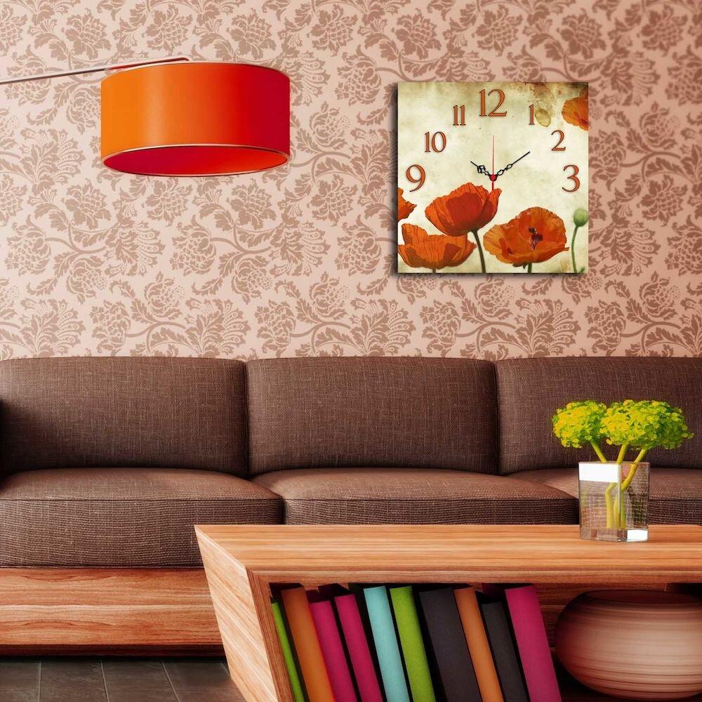 Ceas decorativ Home Art, 238HMA3154, 40 x 40 cm, MDF
