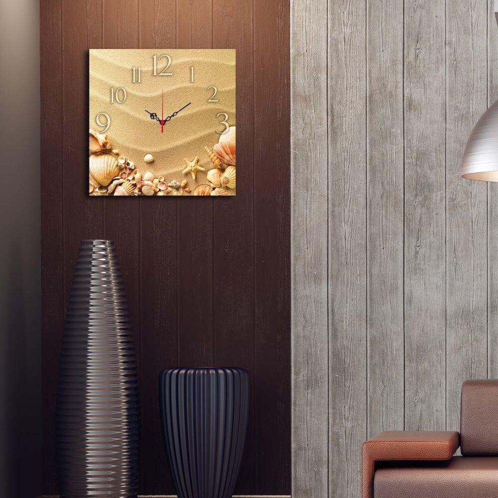 Ceas decorativ de perete din lemn Home Art, 238HMA3175, 40 x 40 cm, MDF