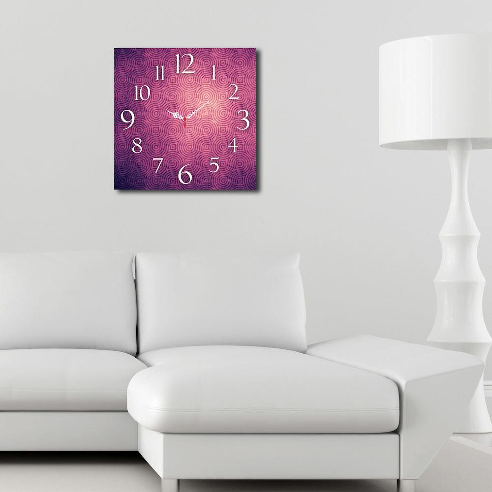 Ceas decorativ de perete din lemn Home Art, 238HMA3185, 40 x 40 cm, MDF