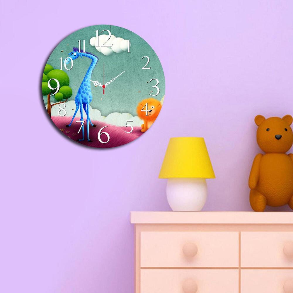 Ceas decorativ de perete din lemn Taffy, 241TFY3101, 40 cm, MDF