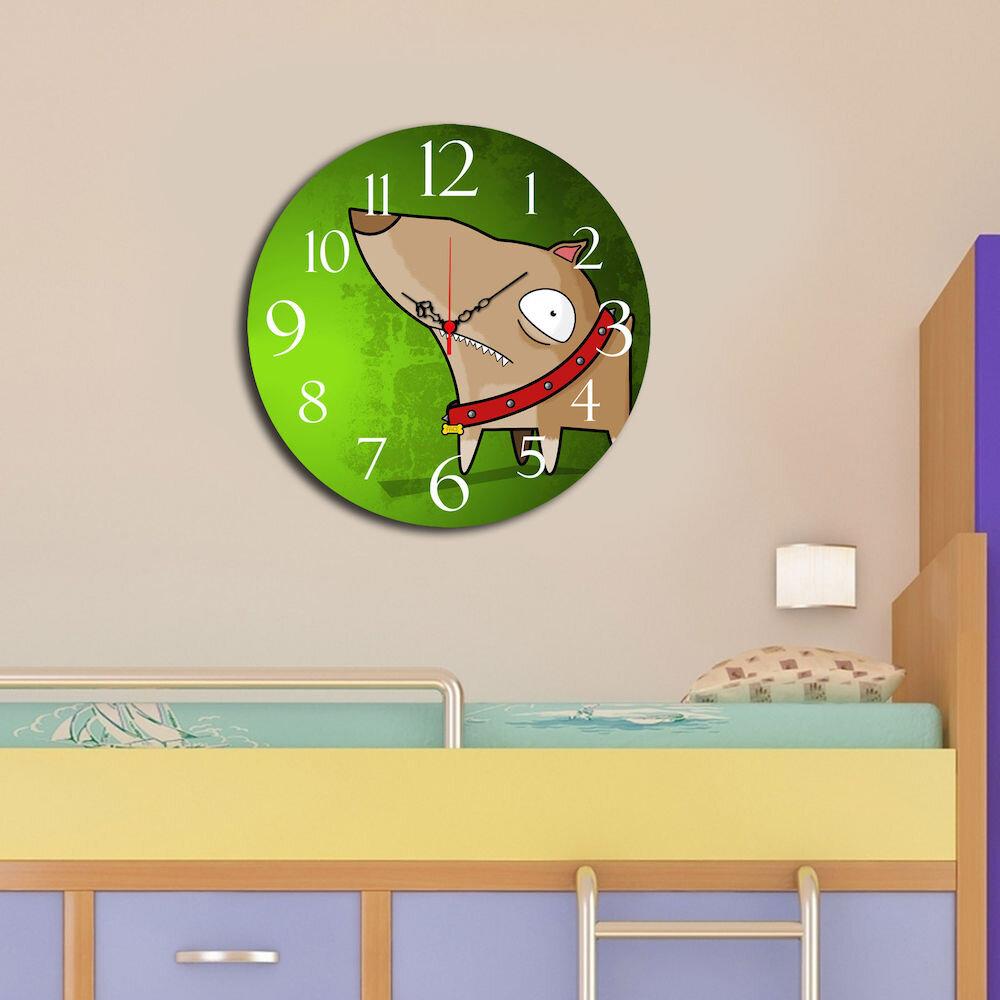 Ceas decorativ de perete din lemn Taffy, 241TFY3102, 40 cm, MDF