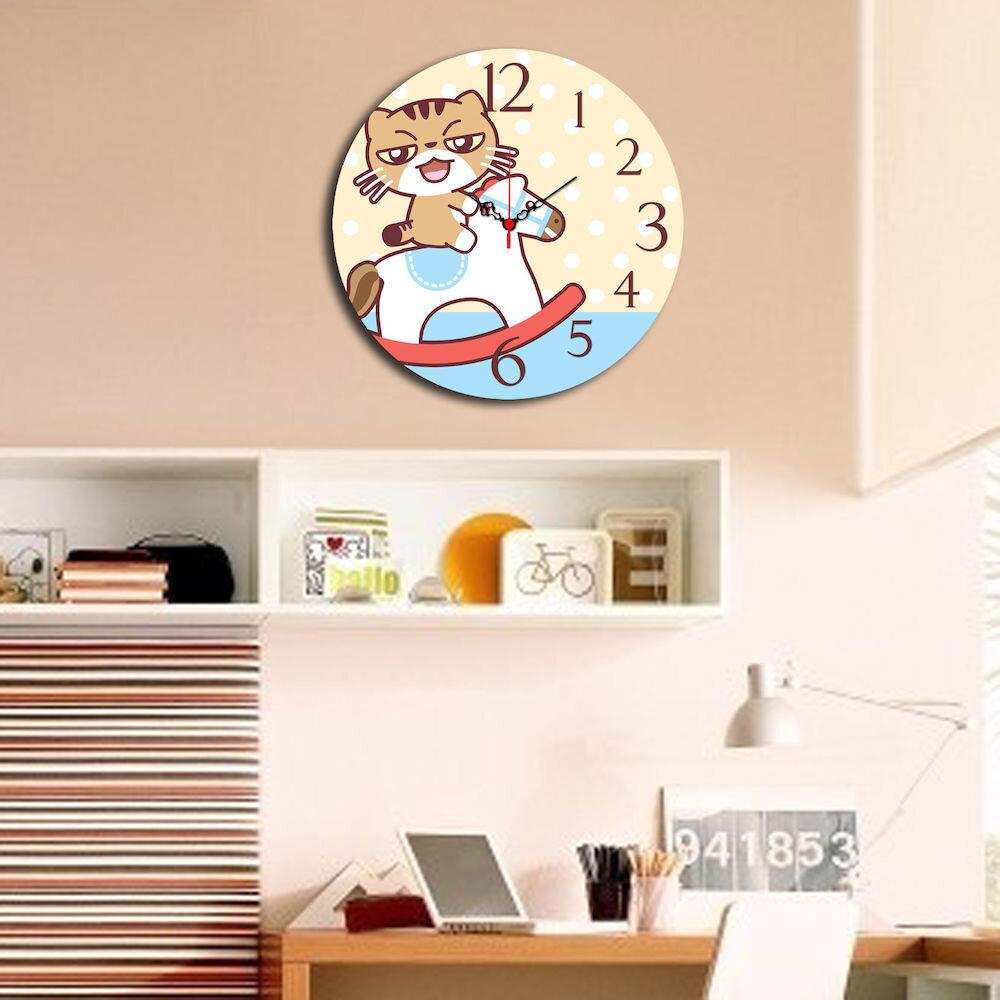 Ceas decorativ de perete din lemn Taffy, 241TFY3105, 40 cm, MDF