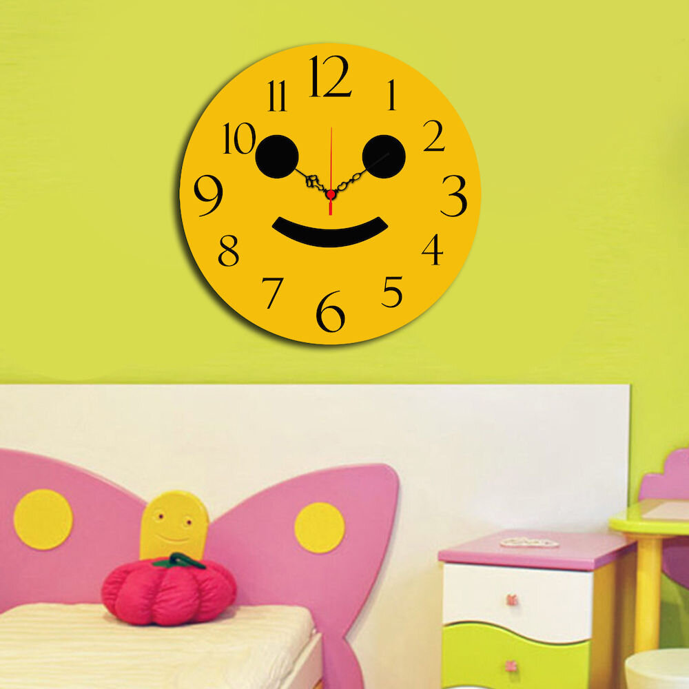 Ceas decorativ de perete din lemn Taffy, 241TFY3109, 40 cm, MDF