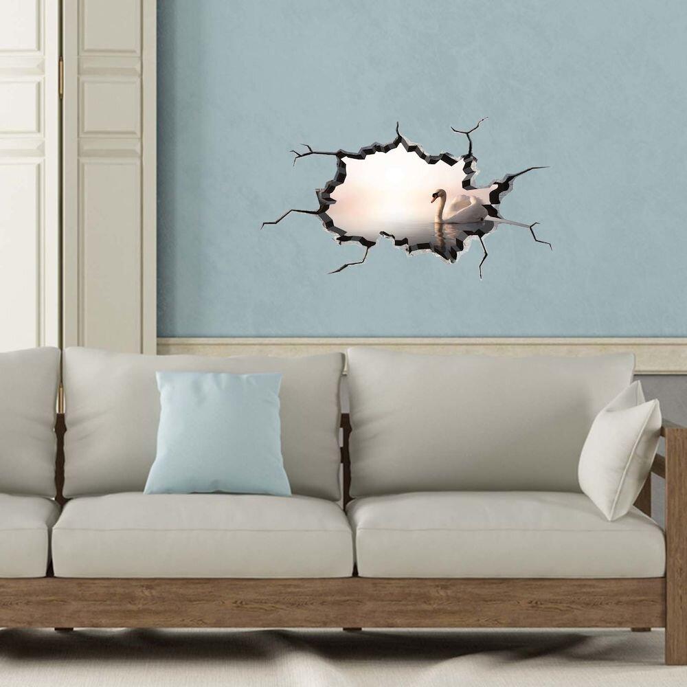 Sticker decorativ de perete Wall 3D, 259DWL1007, 80 x 45 cm
