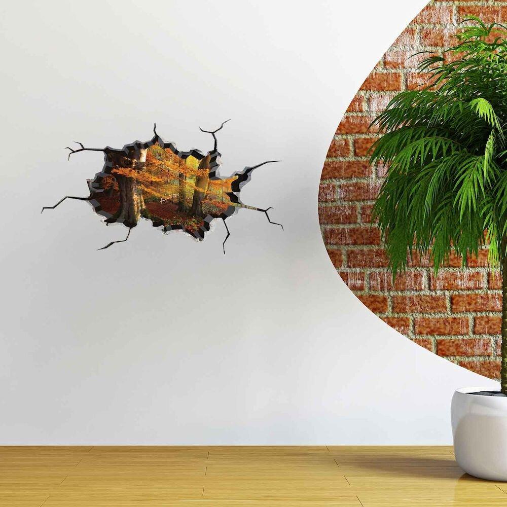 Sticker decorativ de perete Wall 3D, 259DWL1015, 80 x 45 cm