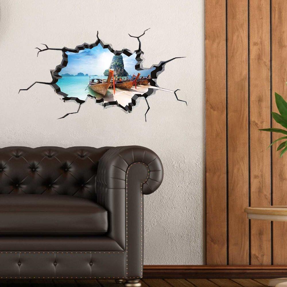 Sticker decorativ de perete Wall 3D, 259DWL1019, 80 x 45 cm