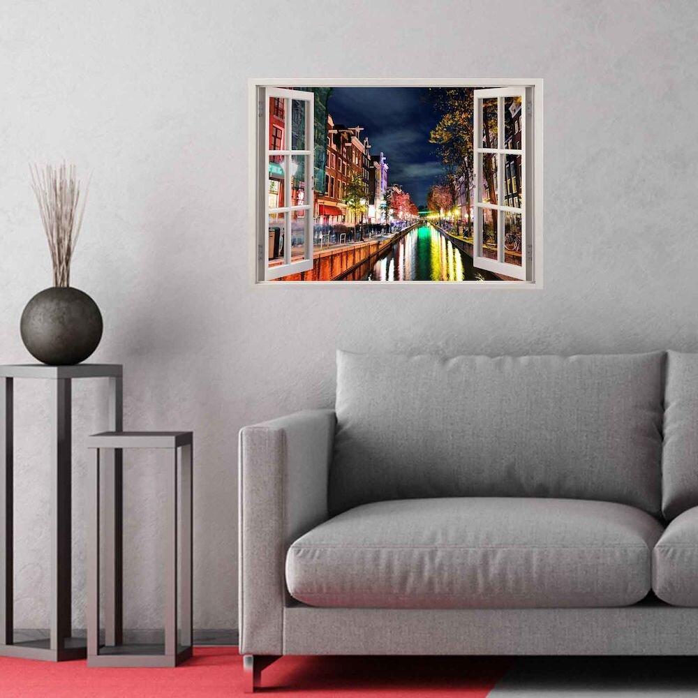 Sticker decorativ de perete Wall 3D, 259DWL1057, 70 x 50