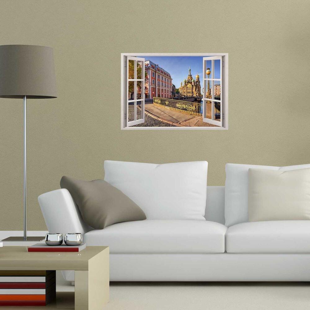 Sticker decorativ de perete Wall 3D, 259DWL1060, 70 x 50