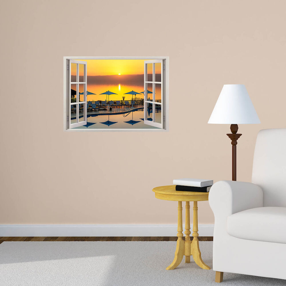Sticker decorativ de perete Wall 3D, 259DWL1070, 70 x 50