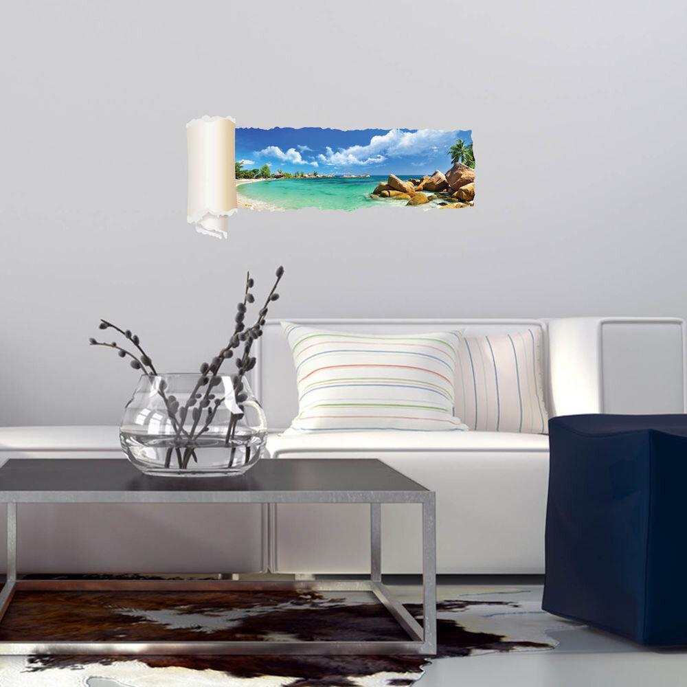 Sticker decorativ de perete Wall 3D, 259DWL1089, 95 x 40 cm