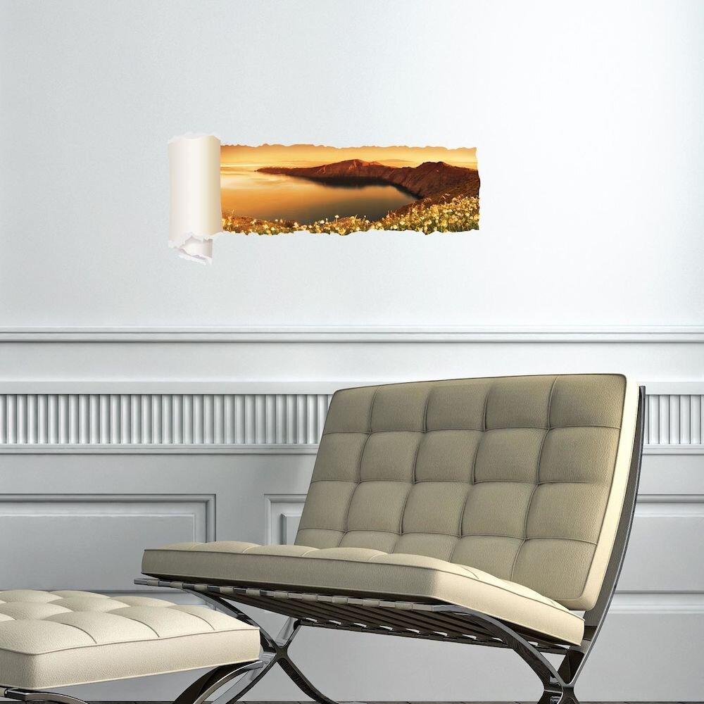 Sticker decorativ de perete Wall 3D, 259DWL1094, 95 x 40 cm