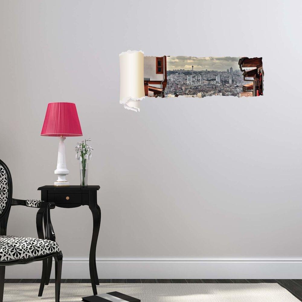 Sticker decorativ de perete Wall 3D, 259DWL1101, 95 x 40 cm