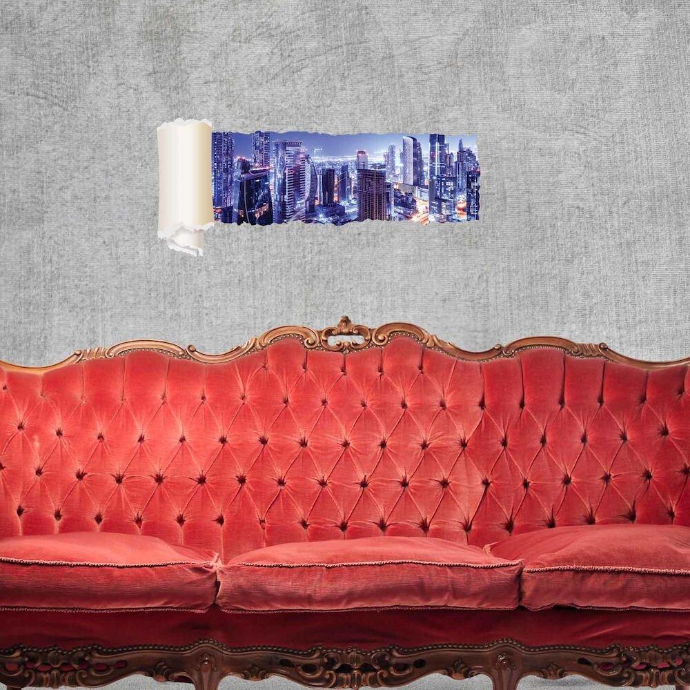 Sticker decorativ de perete Wall 3D, 259DWL1111, 95 x 40 cm