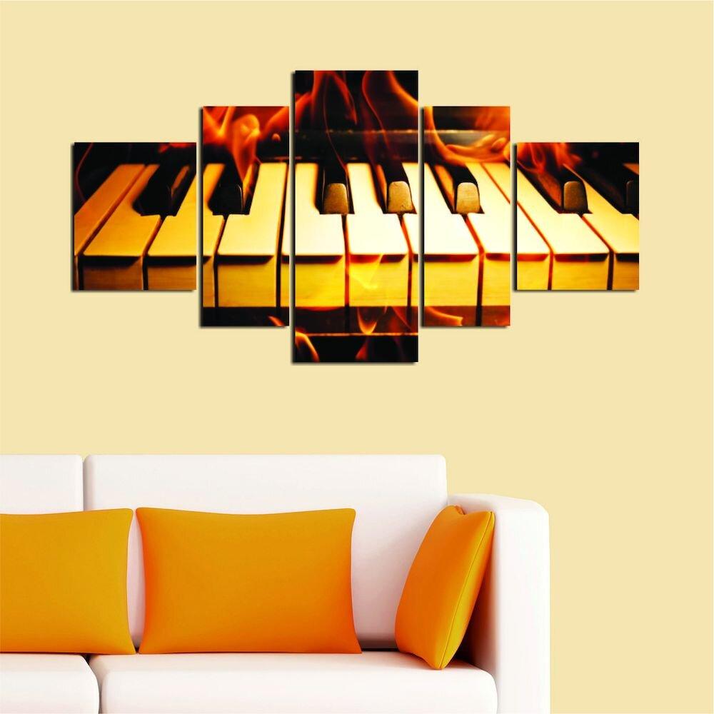 Tablou decorativ Multicanvas Allure, 221ALL1994, 5 Piese, MDF (Grosime: 4mm)