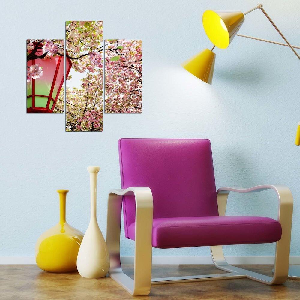 Tablou decorativ Multicanvas Three Art, 251TRE1937, 3 Piese, MDF