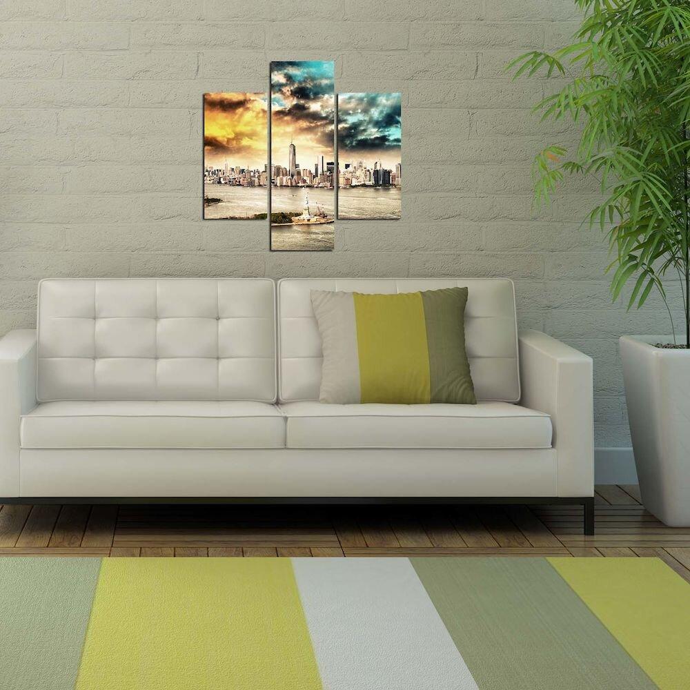 Tablou decorativ Multicanvas Three Art, 251TRE1939, 3 Piese, MDF
