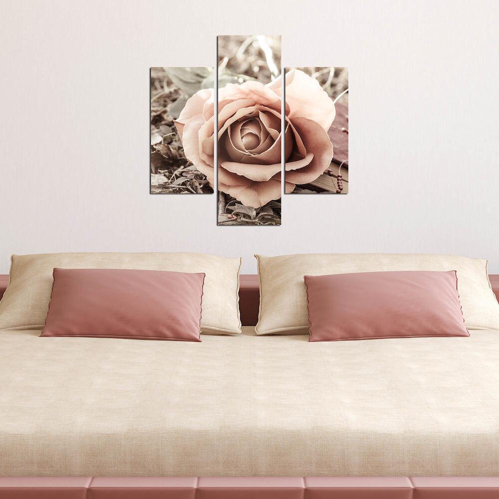 Tablou decorativ Multicanvas Three Art, 251TRE1942, 3 Piese, MDF