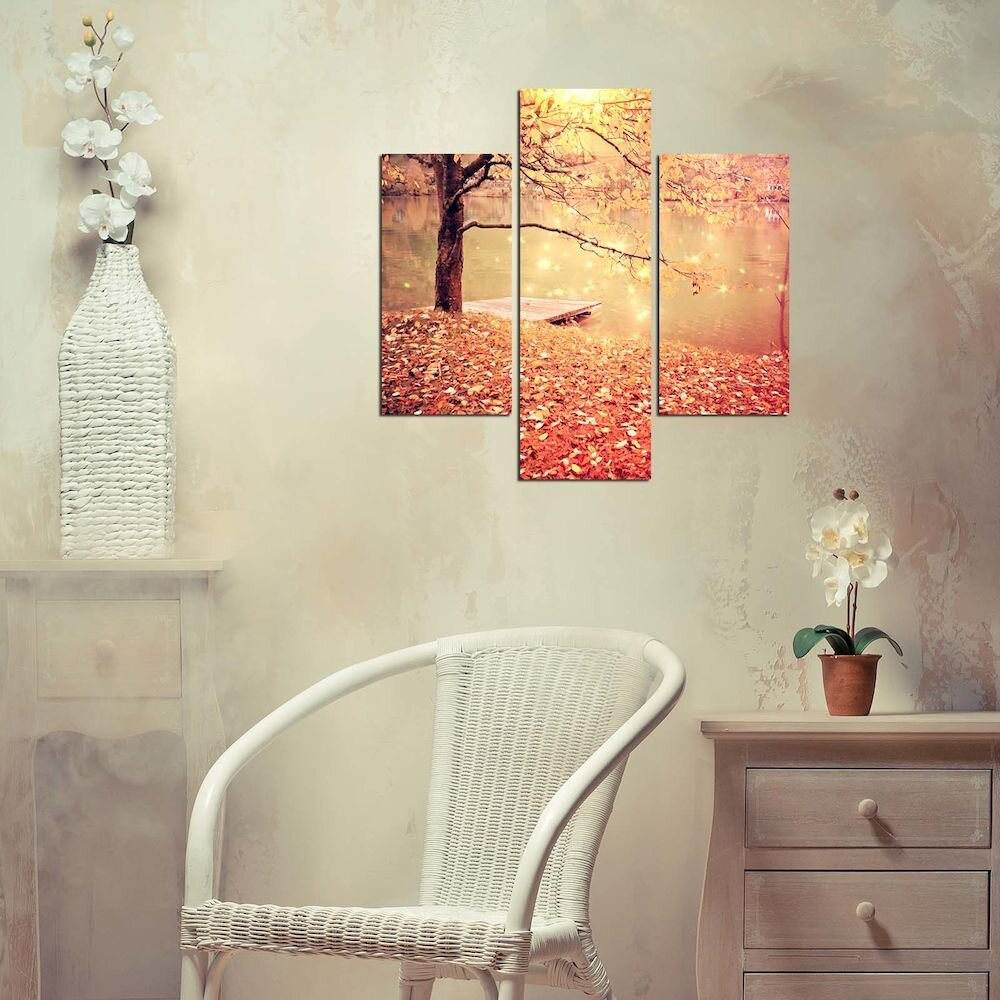 Tablou decorativ Multicanvas Three Art, 251TRE1961, 3 Piese, MDF