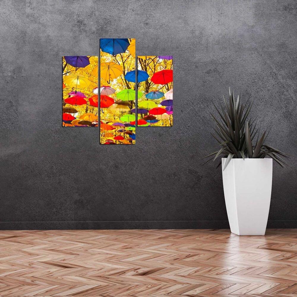 Tablou decorativ Multicanvas Three Art, 251TRE1980, 3 Piese, MDF