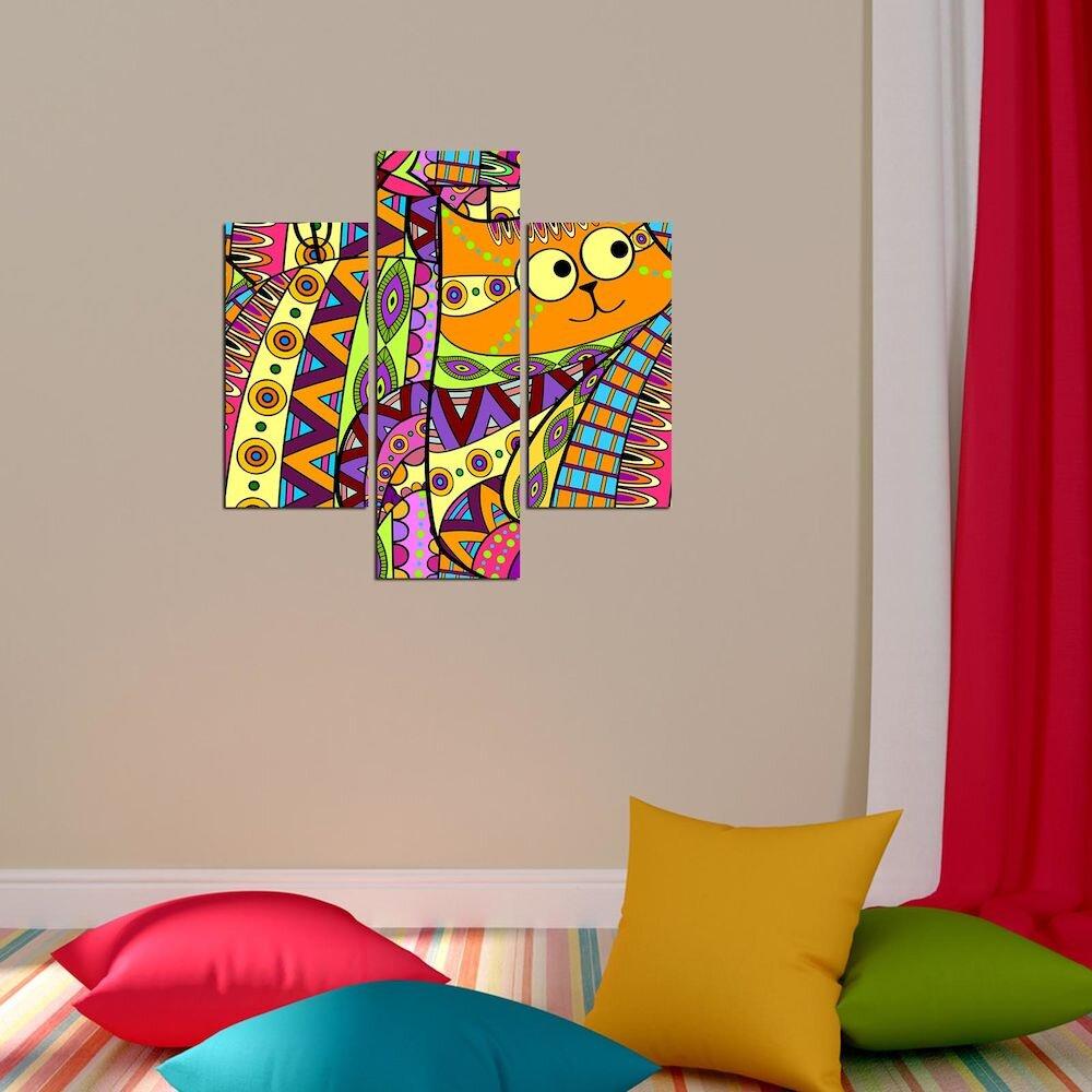 Tablou decorativ Multicanvas Three Art, 251TRE1987, 3 Piese, MDF