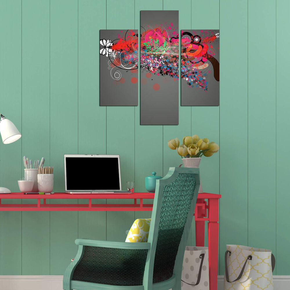 Tablou decorativ Multicanvas Three Art, 251TRE1992, 3 Piese, MDF