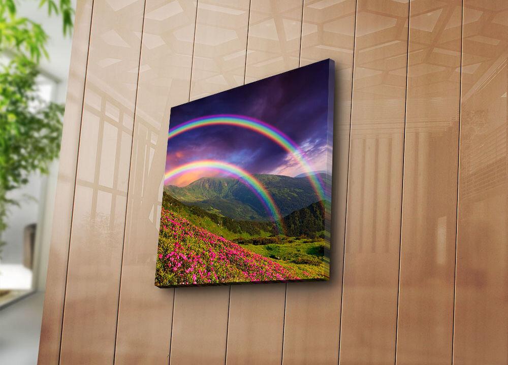 Tablou decorativ pe panza Bonanza, 242BNZ1233, 45 x 45 cm, panza