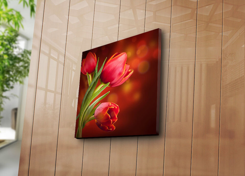 Tablou decorativ pe panza Bonanza, 242BNZ1238, 45 x 45 cm, panza