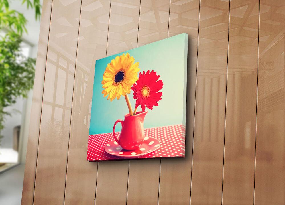 Tablou decorativ pe panza Bonanza, 242BNZ1247, 45 x 45 cm, panza