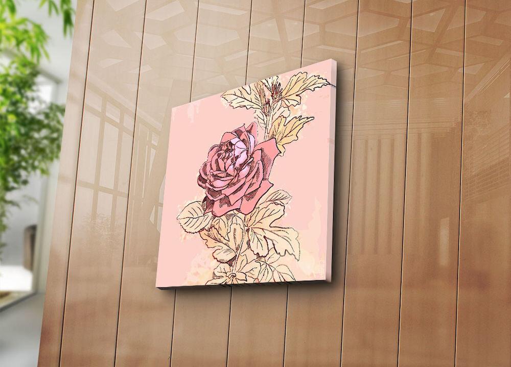 Tablou decorativ pe panza Bonanza, 242BNZ1205, 45 x 45 cm, panza