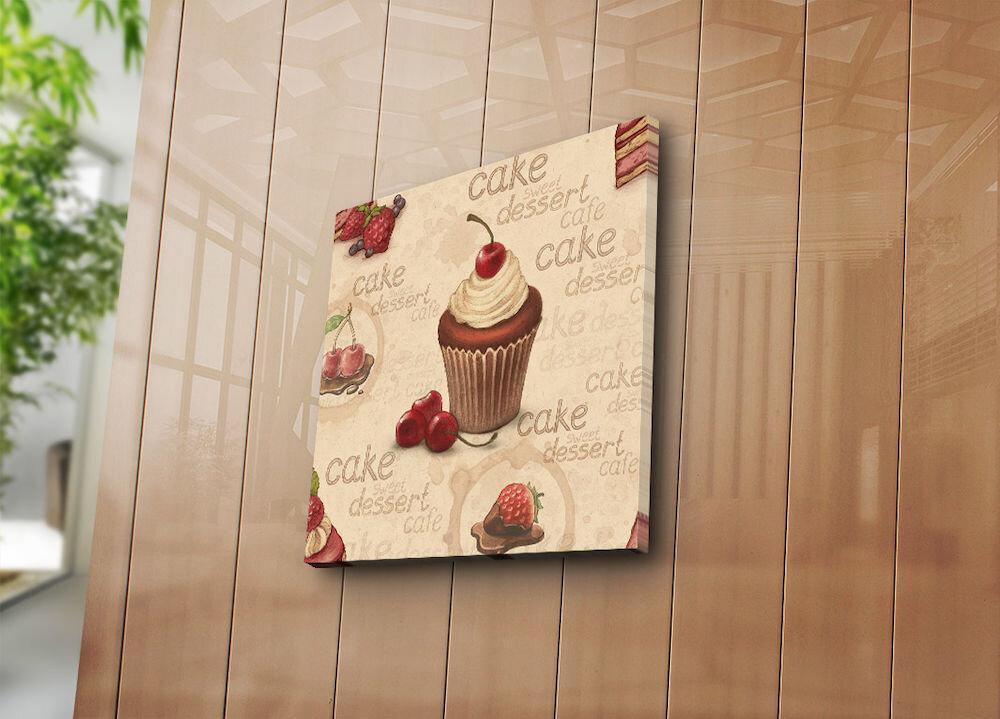 Tablou decorativ pe panza Bonanza, 242BNZ1260, 45 x 45 cm, panza